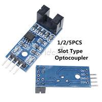 2/5PCS 3.3V-5V Slot Type Optocoupler Infrared Speed Sensor Module LM393 Arduino