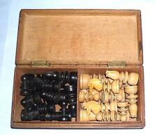 gift antique wooden chess set st george pattern vintage retro wood box