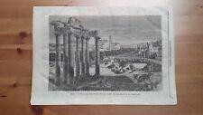 1873 Illustrazione Popolare: Veduta di Roma Il Foro oggi detto Campo Vaccino