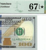 2009A $100 SAN FRANCISCO FRN, PMG SUPERB GEM UNCIRCULATED 67 EPQ ⭐️ DISIGNATION