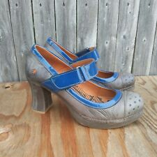 The Art Company Gray Blue Mary Jane Shoes Size 41 EU