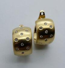 Handmade Hoop Yellow Gold Fine Earrings