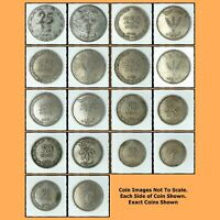 Israel Coins Lot: 1949 / with Rare 25 Mils & 250, 100, 50, 25 Pruta Coins (IL4)