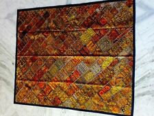 Golden Handmade Carpet Wall Decor Antique Royal Patchwork Vintage Maharaja Rug