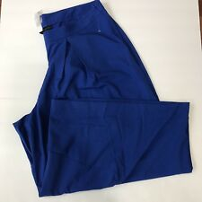 Lane Bryant Womens Pants Culottes Pleated Side Zip Blue Size 20