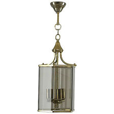 Neoclassical Chic Smoked Glass Lantern , Lustre Lanterne 1970