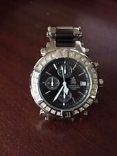 Men's Richard & Co Diamond 0.75ct CHRONO Watch RC 3011 Black