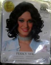 NIP Black Perky Costume Wig from Franco Halloween Theatrical NEW Free Ship USA
