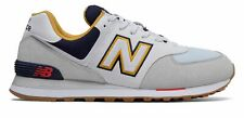 New Balance Men's 574 Shoes Grey with Navy