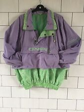 URBAN VINTAGE RETRO BRIGHT BOLD 90'S O'NEILL JACKET OVERHEAD WINDBREAKER SMALL