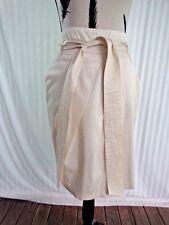 NEW Forecast Sz 12 Cream pleat front skirt,2 pockets+belt, slight stretch+lined