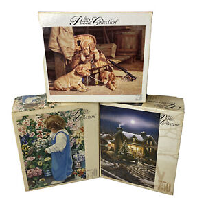 Puzzle Lot of 3 Roseart 750 pc Jigsaw Puzzles The Puzzle Collection