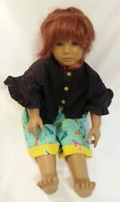 """Annette Himstedt Janka doll red hair 26"""" #4846 Reflections of Youth 1990 Signed"""