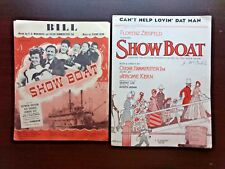"Show Boat (2) Pieces Sheet Music Vintage ""Bill"", ""Can't Help Lovin' Dat Man"" '27"
