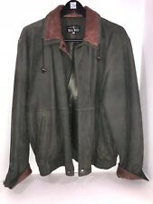 Vera Pelle Green/Brown Leather Made In Italy Men's Leather Jacket Sz 52/XL