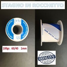 STAGNO BOBINA IN ROCCHETTO MKC 60/40 100GR 1MM SALDARE SALDATURA HIGH QUALITY