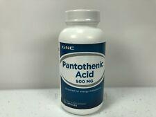 GNC Pantothenic Acid 500 MG Dietary Supplement -100 Capsules