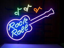 "New New Rock and Roll Music Guitar Beer Bar Neon Sign 17""x14"" Ship From USA"