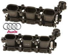 Pair Set Of 2 Left & Right Intake Manifold Air Equalizer Housing For Audi A4 A6