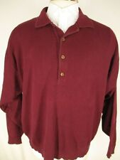 J Peterman Mens Red Cotton Polo Sweater L