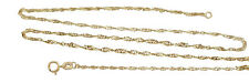 Fine Gold Chain 333 Singapore Yellow Gold Necklace Twisted 42 CM