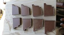 """Klauer 5"""" Brown Gutter End Cap Lot Of 8! Usa Made Metal 1 1/4"""" Thick! Slip On"""