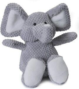 GoDog Chew Guard Technology Checkers Elephant Plush Durable Large Dog Toy