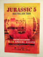 JURASSIC 5 FIVE 2014 Australian Tour Poster A2 *BRISBANE EATONS HILL ONLY* *NEW*