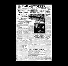 Dollshouse Miniature Newspaper - 1936 Daily Worker - Spanish Civil War