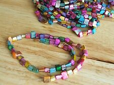 Multi coloured shell nugget beads - 15 inch strand / approx 56 pieces