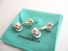Tiffany & Co Silver Double Knot Cuff Link Cufflink Cufflinks Rare Excellent!