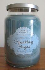 NWT Yankee Candle Limited Edition Sparkling Sugar 22 OZ Large Jar Blue Wax NEW