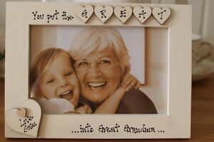 Personalised Photo Frame by Filly Folly! Great Grandmother Gift! 6x4''