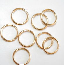 14K GOLD FILLED 8MM CIRCLE CLASP CONNECTOR RING FOR CHAINS PENDENTS