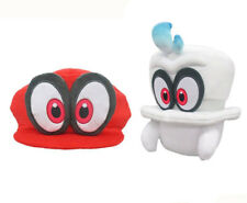 """2PCS Super Mario Bros Odyssey Plush Stuffed Doll White Cappy Toy 8"""" and Hat Gift"""