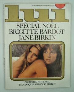 LUI - N° 107 - Brigitte Bardot / Jane Birkin - Décembre 1972 - TBE