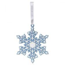 Wedgwood Christmas 2016: 'Large Snowflake' Blue Tree Decoration (New)