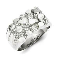 925 Sterling Silver Men's Polished Nugget Ring Size 12