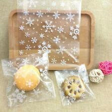 100Pcs Self Adhesive Plastic Cookie Bag Candy Gift Packaging Birthday Bags HOT