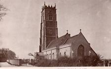 The Church Winterton Nr Hemsby  RP old pc used 1913 Goffin