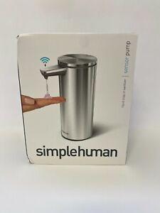 SimpleHuman Touch-Free Rechargeable Sensor Liquid Soap Pump Dispenser #1 (0538)