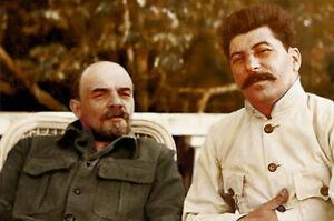 Vladmir Lenin and Josef Stalin in Gorki, 1922 Photo 4x6 inch С