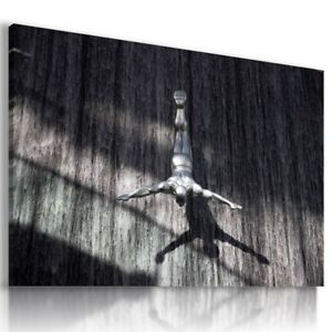 WATERFALL MAN WATER MODERN DESIGN CANVAS WALL ART PICTURE LARGE WA36 MATAGA .