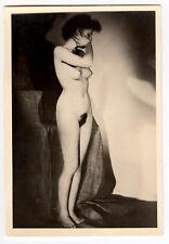 #681 RÖSSLER AKTFOTO / NUDE WOMAN STUDY * Vintage 1950s Studio Photo - no PC !