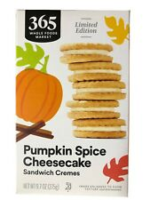 New listing 365 Whole Foods Pumpkin Spice Cheesecake Sandwich Cremes Cookies 9.7oz Pack of 2