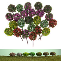 5pcs mini árbol de flores plantas hadas jardín decoración Dollhouse arte mod*ws