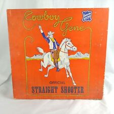 Vtg Cowboy Gene Box for Costume 1940s Collector EMPTY Official Straight Shooter