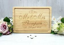 Wooden Chopping Cheese Board Personalised Engraved Bamboo Wedding Gift Sign