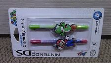 Super Mario Charm Stylus Pack Nintendo 3DS 2DS System Console XL DS Lite DSi NEW