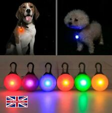 Dog LED Light Tag Collar Luminous Night Safety Clip Flashing Pendant UK Stock